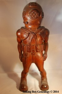 Conwell Frank Russell Deep Sea Diving Suit Carving